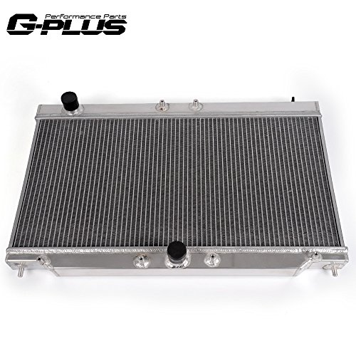 2 Row Core Full Aluminum Racing Radiator Replacement For 1995-1999 Mitsubishi Eclipse GS-T GSX TURBO 2 Gen / 1995-1999 Eagle Talon MT/MANUAL Only
