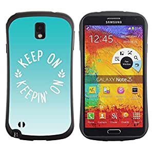 Suave TPU GEL Carcasa Funda Silicona Blando Estuche Caso de protección (para) Samsung Note 3 / CECELL Phone case / / ice cream mint green brown summer /