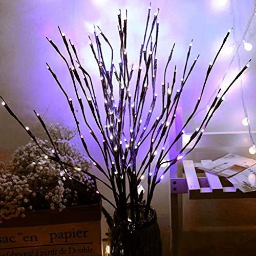 Branch Lights - Led Branches Battery Powered Decorative Lights Willow Twig Lighted Branch for Home Decoration Cool White - 20 Inches 20 LED Lights[2 ()