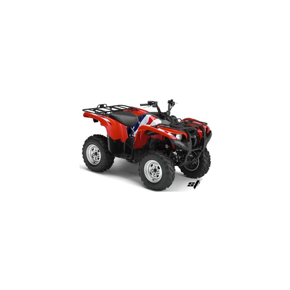 AMR Racing Yamaha Grizzly 700 ATV Quad Graphic Kit   Stars and Stripes Red,