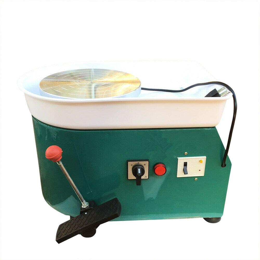 WUPYI Electric Pottery Wheel Machine,220V 250W Pottery Forming Machine Pottery Wheel Ceramic Machine for Ceramic Work Ceramics Clay (Green)