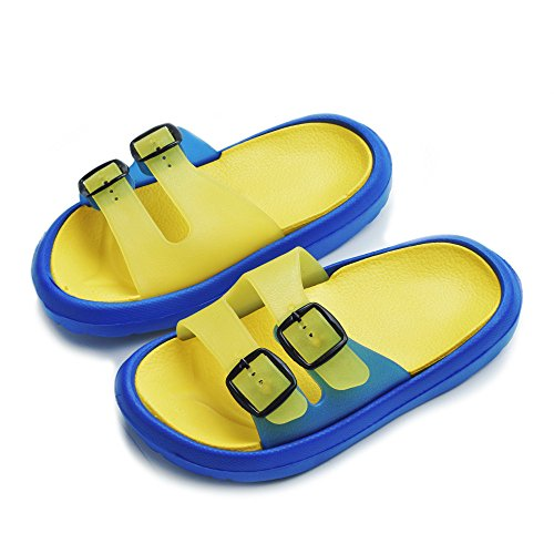 Cyiecw Todder Litter Kid Walking Sandals Non-Slip Beach Shoes Lightweight Shower Pool Slippers (Toddler 7-8M, Yellow)