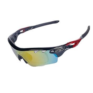 Lunettes de lunettes de sport Lunettes de soleil polarisées Cyclisme coupe-vent Lunettes de miroir, a