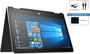 HP Pavilion X360 2-in-1 11.6'' HD IPS WLED-Backlit Touchscreen Laptop w/ Accessories | Intel Pentium Silver N5000 Quad-Core | Intel UHD Graphics 605 | 4GB DDR4 | 128GB SSD | Windows 10 | Silver