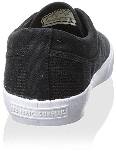Generisches Surplus Herren Plimsol Mesh Lowtop Sneaker Schwarz