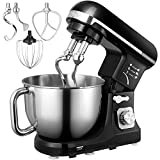 Stand Mixer, Aicok 5-Quart 500-Watt 6-Speed Dough Mixer with Stainless...