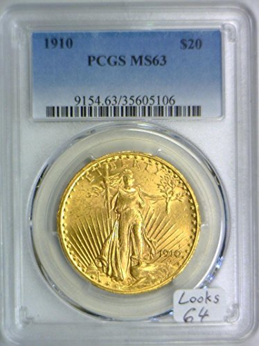 1910 P Double Eagle Twenty Dollar MS-63 PCGS
