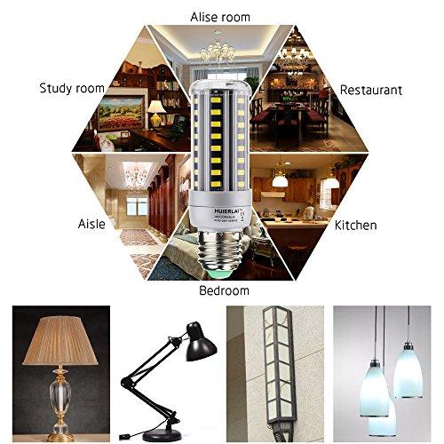 4x E27 12W Bombilla LED Lámpara Luz de Maíz La luz blanca 6000K Ángulo de Haz 360° 1205 Lumen Sustituye la lámpara Halógena de 80-100W aplica a Iluminación ...