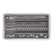 Neatnix Jewelry Stax Necklace Organizer, Pearl Grey