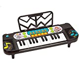 DUWEN Keyboard Children's keyboard Beginner teaching piano Getting Started Keyboard Mini 32 keys Multifunctional keyboard (black)