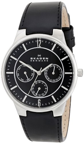 Skagen Men's 331XLSLB   Leather Watch