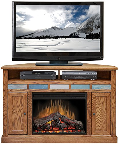 Gel Oak Corner - Oak Creek Corner Fireplace