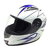 union jack helmet - 818 Full Face Helmet with Union Jack Graphics (Gloss White, Small)