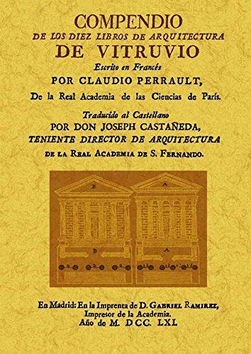 Compendio de los diez libros de arquitectura de Vitruvio: Amazon.es: Vitruvio Polión, Marco: Libros