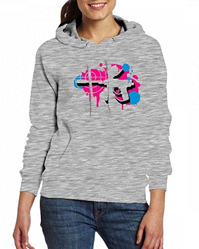 A paintball gun with a crosshair as a graffiti Womens Hoodie Fleece Custom Sweartshirts