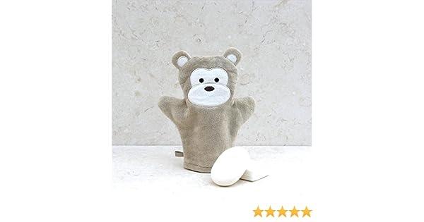 Baño Mono algodón Manopla de baño, diseño de conejos: Amazon.es: Bebé