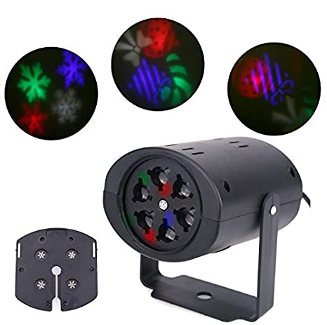 Fiesta de cumpleaños LED Luz de Navidad Decoración RGB DJ Disco ...