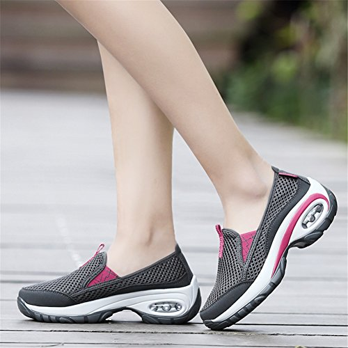 Trekking Shoes Tulle Women's New A Air Summer Height Spring Cushion Shoes Shoes Thick Shoes Bottom Casual Increase gwqvwW641
