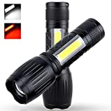 2Pack LED Flashlight,Upgrade A100 1200 Lumen Super Bright Camping Flashlights, Zoomable Focus 7 Light Mode Flash Lighting for Work Light,Biking,Emergency,Survival (Upgrade A100)