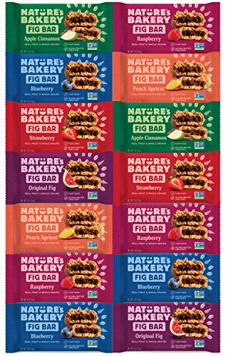 Nature's Bakery Stone Ground Whole Wheat Fig Bar Variety Pack Sampler, All Natural NON GMO Snack Food by Variety Fun (14 Count)