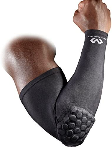 Mcdavid 6500 Hex Padded Arm Sleeve, Compression Arm Sleeve w/ Elbow Pad for Football, Volleyball, Baseball Protection, Youth & Adult Sizes, Sold as ...