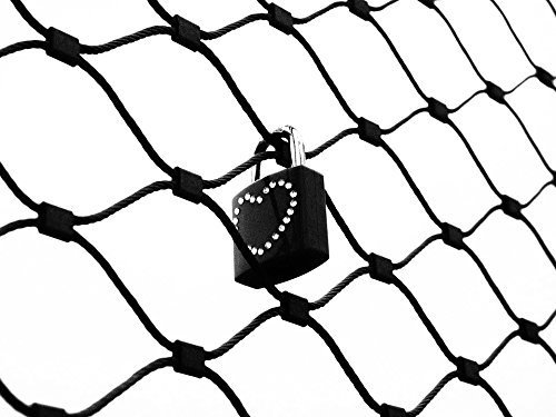 Home Comforts Canvas Print Castle Fence Padlock Love Castle Engraving Love Stretched Canvas 32 x 24