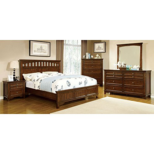 Chelsea Cottage Style Cherry Finish Eastern King 6-Piece Bedroom Set (Hardwood Bedroom Furniture Sets)