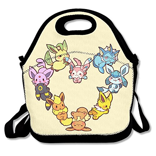 [LHLKF Eevee Family Heart Cool Bag Storage Bag One Size] (Easy Eevee Costume)
