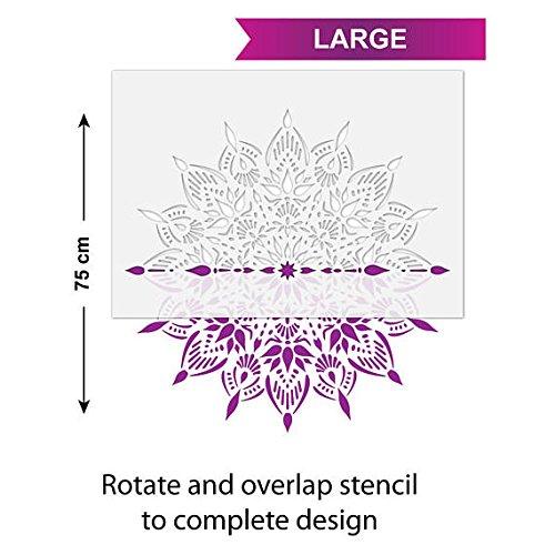 /r/éutilisable M/édaillon Motif Template Large Craftstar Indu Mandala Pochoir/