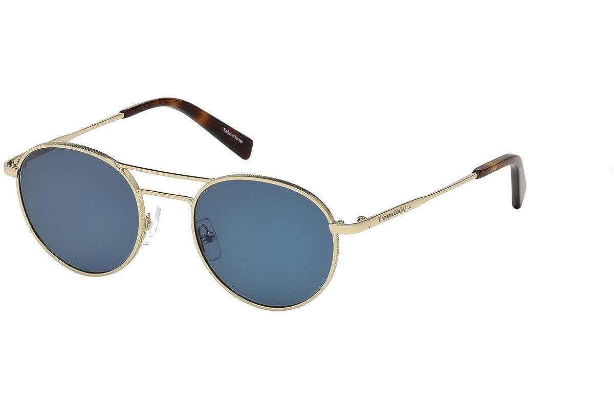 0c843018627 Amazon.com  Ermenegildo Zegna EZ0089 - 28V Sunglasses Shiny Rose Gold frame  w  BLUE Lens 50mm  Clothing