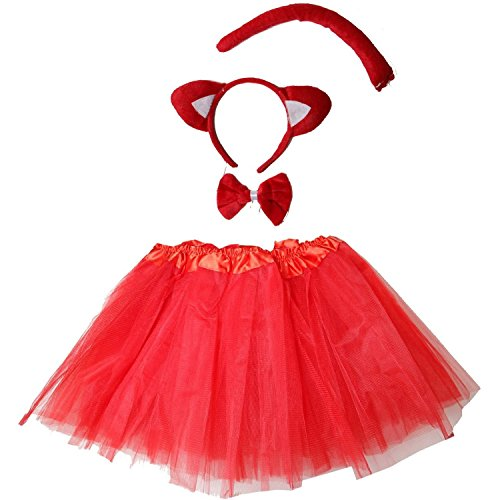 Kirei Sui Kids Costume Tutu Set Red Fox]()