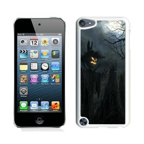 Personalization Dark Raven Scarecrow Halloween White iPod Touch 5 Case 1