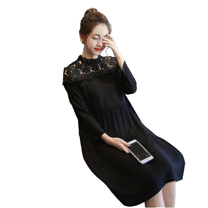 HZFF La versión coreana de maternidad vestido de encaje, la primavera y el otoño, mama ropa suelta, mucho dinero: Amazon.es: Ropa y accesorios