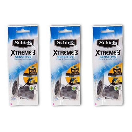 Schick Xtreme3 Sensitive Men's Disposable Razor 12count