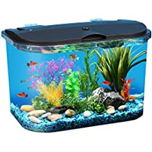 Panaview 5-Gallon Aquarium Kit with LED Lighting and Power Filter