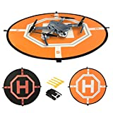 COMECASE 31'' Drone Landing Pad Compatible with DJI Mavic Pro/ Air with Reflective Areas. Includes 4 Land Nails Keeping RC Drones Safe