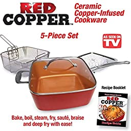 Red Copper 5 piece Cookware Set, 2