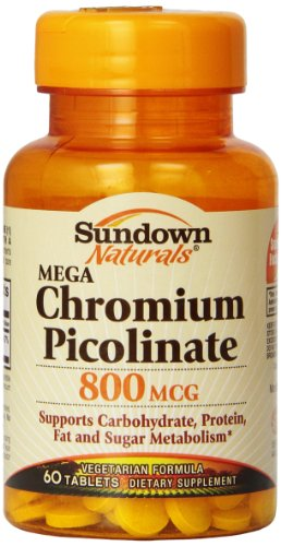Sundown Naturals Mega пиколинат хрома, 800 мкг, 60 таблеток