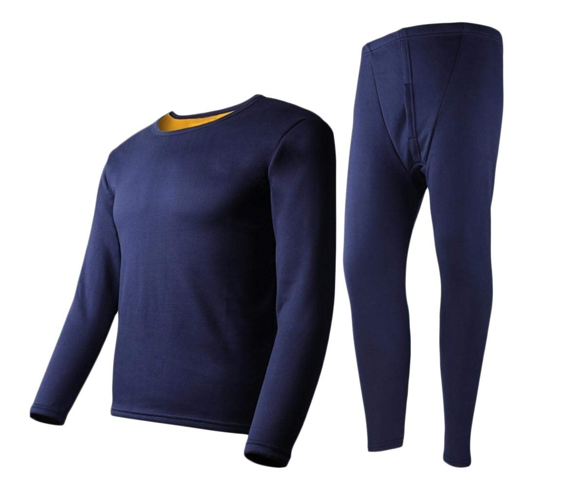 Doufine Men Long Johns Thermal Underwear Ultra Soft Top & Bottom Set