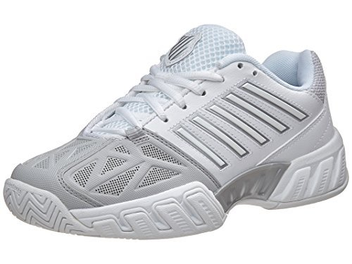 K-Swiss Juniors` Bigshot Light 3 Tennis Shoes White and Silver-(888758713119)
