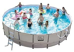 """Pro-series 20-foot Round Metal Frame Pool 48"""" Depth"""