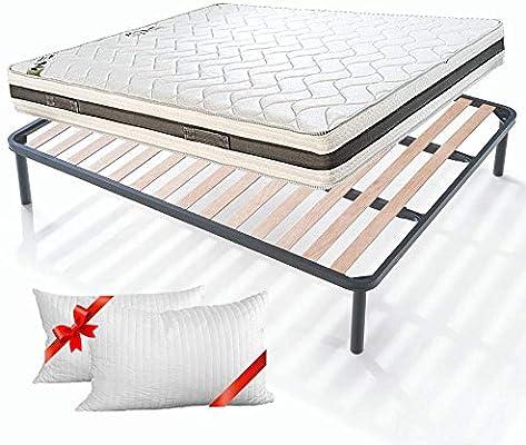 Cuscini E Materassi.Evergreenweb Kit Rete E Materasso Matrimoniale 160x190 Alto 20cm