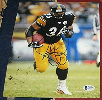 quality design 11bbf d1f48 Jerome Bus Bettis Pittsburgh Steelers Signed Autographed ...
