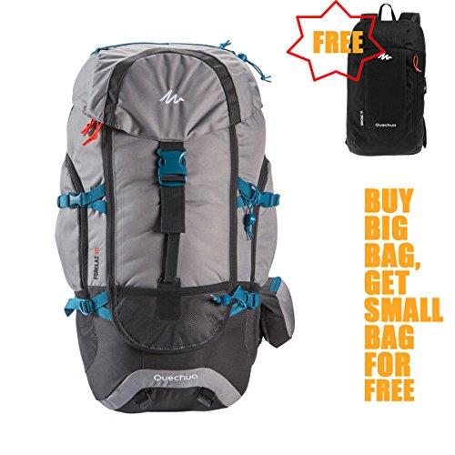 ae6bfce2c2d7 Decathlon Quechua Backpack TrekkingOutdoor Hiking Camping Daypacks Forclaz  50L + Free 10L Mini Backpack
