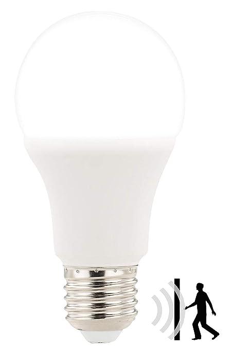 Luminea LED Birne E27: LED-Lampe mit Radar-Bewegungssensor, 12 W, E27, tageslichtweiß 6.400 K (Glühbirne mit Bewegungsmelder)