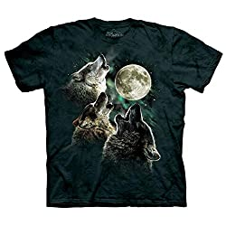 The Mountain 100% Cotton Three Wolf Moon T-Shirt