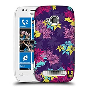 Head Case Designs English Violet Botanical Ornament Protective Snap-on Hard Back Case Cover for Nokia Lumia 710