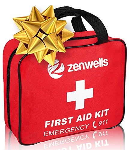 Best First Aid Med Kit for Emergency and Disaster Preparedness, Free First Aid Guide, 192 Deluxe EMT Life-Saving Medical Supplies, Travel Trauma Kits for Home, Car, Hiking, Outdoor, Survival, Camping ()