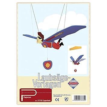 Matches21 Fliegender Superheld Holz Laubsägevorlage Din A4