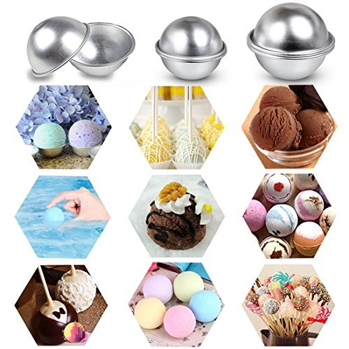 Bath Bomb Mold, Outgeek 217Pcs DIY Bath Bomb Kit Include Metal Bath Bomb Mold 8 Set 16 Pieces 5 Size, 200 Shrink Wrap Bags, Mini Heat Sealer for Bath Bombs Making & Soaps by Outgeek (Image #5)